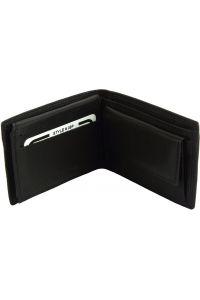 Ανδρικο Δερματινο Πορτοφολι Saffiro Firenze Leather PF09 Μαύρο