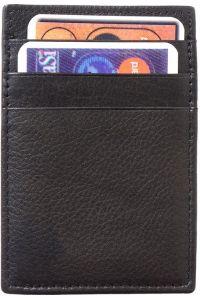 Δερματινη Θηκη για Καρτες Firenze Leather PC02 Μαύρο