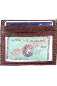 Θηκη για Καρτες Δερματινη Firenze Leather PC332 Σκουρο Καφε