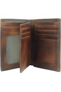 Δερμάτινο Πορτοφόλι Alfio Firenze Leather 53447 Σκουρο Καφε