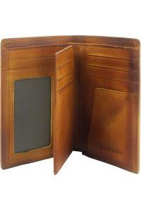 Δερμάτινο Πορτοφόλι Alfio Firenze Leather 53447 Μπεζ