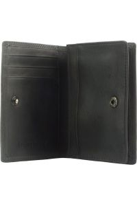 Δερματινη Θηκη για Καρτες Firenze Leather 53448 Μαύρο