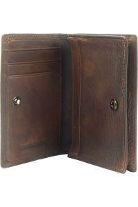 Δερματινη Θηκη για Καρτες Firenze Leather 53448 Σκουρο Καφε