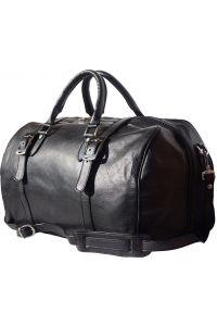 Δερμάτινο Σακ Βουαγιαζ Fortunato Firenze Leather 7503 Μαύρο