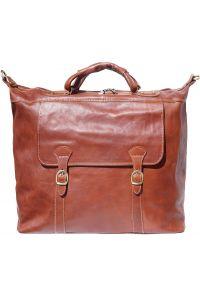 Δερματινος Σακος Ταξιδίου Firenze Leather 7504 Καφε