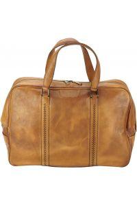 Δερματινος Σακος Ταξιδίου Danilo Firenze Leather 68061 Μπεζ