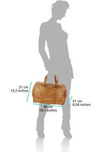 Δερματινος Σακος Ταξιδίου Danilo Firenze Leather 68061 Καφε