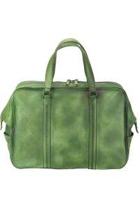 Δερματινος Σακος Ταξιδίου Danilo Firenze Leather 68061 Σκουρο Πρασινο