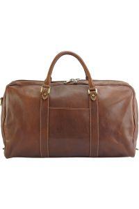 Δερμάτινο Σακ Βουαγιαζ Gosto Firenze Leather 7501 Καφε