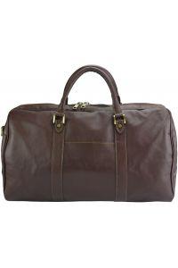 Δερμάτινο Σακ Βουαγιαζ Gosto Firenze Leather 7501 Σκουρο Καφε