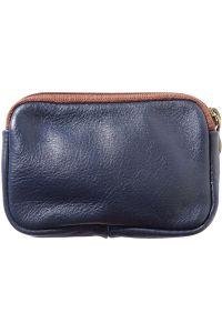 Δερματινο Πορτοφολι Κερματων Firenze Leather PM335 Σκουρο Μπλε