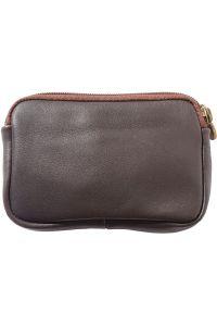 Δερματινο Πορτοφολι Κερματων Firenze Leather PM335 Σκουρο Καφε