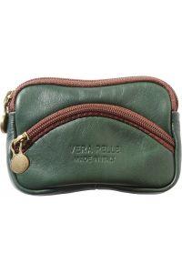Δερματινο Πορτοφολι Κερματων Firenze Leather PM335 Σκουρο Πρασινο