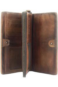 Γυναικειο Δερματινο Πορτοφολι Boris Firenze Leather 53514 Σκουρο Καφε