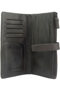 Δερμάτινο Πορτοφόλι Agostino Firenze Leather 51484 Μαύρο