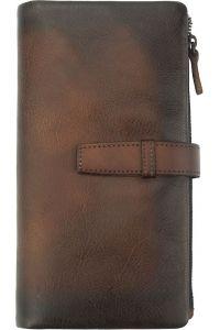 Δερμάτινο Πορτοφόλι Agostino Firenze Leather 51484 Σκουρο Καφε