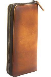 Δερμάτινο Πορτοφόλι Με Φερμουάρ Firenze Leather 53771 Μπεζ