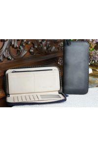 Δερμάτινο Πορτοφόλι Με Φερμουάρ Firenze Leather 53771 Μαύρο