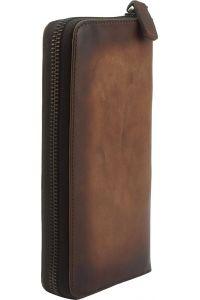 Δερμάτινο Πορτοφόλι Με Φερμουάρ Firenze Leather 53771 Σκουρο Καφε