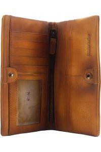 Γυναικειο Δερματινο Πορτοφολι Bernardo Firenze Leather 53801 Μπεζ