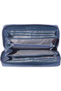 Δερματινο Γυναικειο Πορτοφολι Firenze Leather PF086 Σκουρο Μπλε