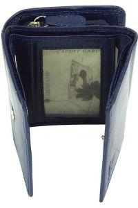 Δερμάτινο Πορτοφόλι Rina V Firenze Leather V908 Σκουρο Μπλε
