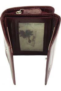 Δερμάτινο Πορτοφόλι Rina V Firenze Leather V908 Μπορντο
