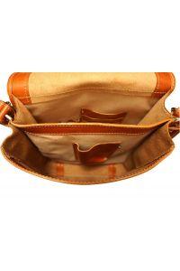 Δερματινη Τσαντα Ωμου Mirko MM Firenze Leather 6516 Μπεζ