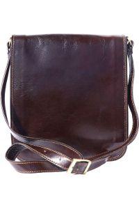 Δερματινη Τσαντα Ωμου Mirko MM Firenze Leather 6516 Σκουρο Καφε