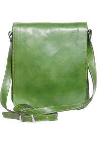 Δερματινη Τσαντα Ωμου Mirko MM Firenze Leather 6516 Σκουρο Πρασινο