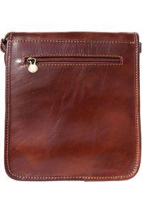 Δερματινο Τσαντακι Ωμου Mirko Firenze Leather 6515 Καφε