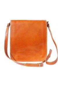 Δερματινο Τσαντακι Ωμου Mirko Firenze Leather 6515 Μπεζ