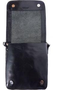 Δερματινο Τσαντακι Ωμου Mirko Firenze Leather 6515 Μαύρο
