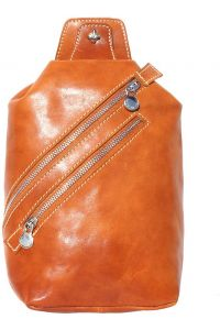 Δερματινο Τσαντακι Μεσης Firenze Leather 6561 Μπεζ