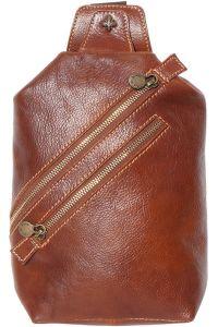 Δερματινο Τσαντακι Μεσης Firenze Leather 6561 Καφε