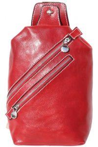 Δερματινο Τσαντακι Μεσης Firenze Leather 6561 Κόκκινο