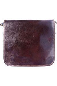 Δερμάτινη Τσάντα Ωμου Christopher Firenze Leather 6551 Σκουρο Καφε
