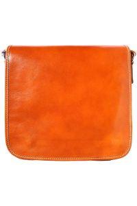 Δερμάτινη Τσάντα Ωμου Christopher Firenze Leather 6551 Μπεζ