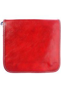 Δερμάτινη Τσάντα Ωμου Christopher Firenze Leather 6551 Κόκκινο
