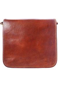Δερμάτινη Τσάντα Ωμου Christopher Firenze Leather 6551 Καφε