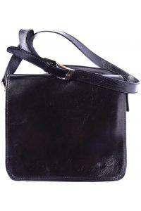 Δερμάτινη Τσάντα Ωμου Christopher Firenze Leather 6551 Μαύρο