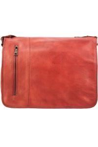 Δερματινη Τσαντα Ταχυδρομου Grigori Firenze Leather 68023 Κόκκινο