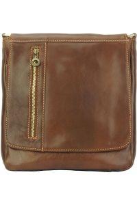 Δερματινη Τσαντα Ωμου Amico Firenze Leather 6565 Καφε