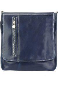 Δερματινη Τσαντα Ωμου Amico Firenze Leather 6565 Σκουρο Μπλε