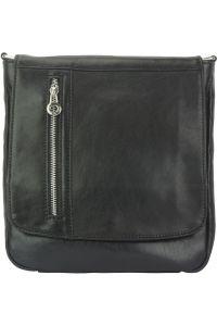 Δερματινη Τσαντα Ωμου Amico Firenze Leather 6565 Μαύρο