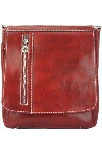Δερματινη Τσαντα Ωμου Amico Firenze Leather 6565 Κόκκινο
