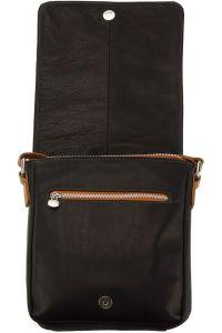 Δερματινη Τσαντα Ωμου Camillo Firenze Leather B033 Μαύρο/Μπεζ