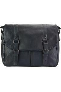 Δερματινη Τσαντα Ταχυδρομου Mattia Firenze Leather 68140 Μαύρο