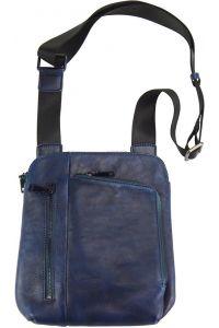 Τσαντακι Ωμου Δερματινο Gianluigi Firenze Leather 68026 Σκουρο Μπλε