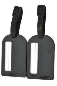 Σετ 2 Ετικετες Αποσκευών Benzi BZ4066 Μαυρο